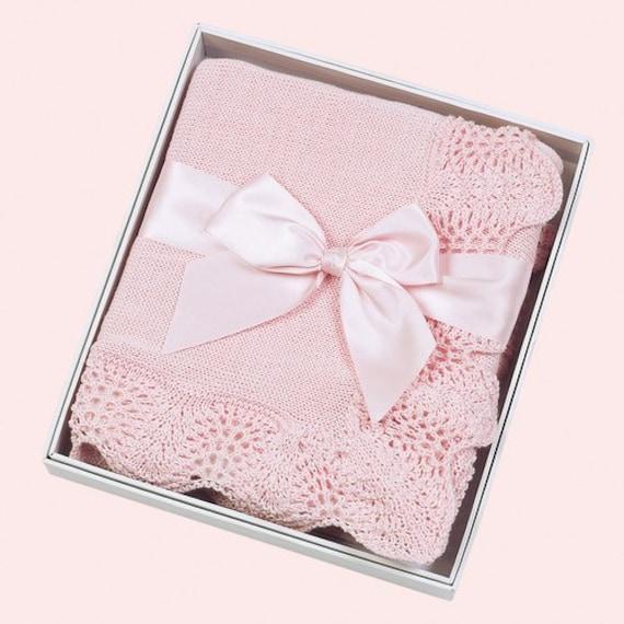 Baby Blanket Personalized Pink Vintage
