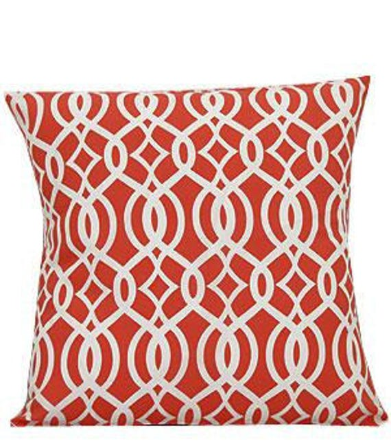 Pillow Cover Monogrammed Coral Vine Print-FREE SHIPPING
