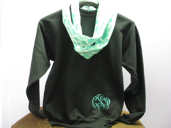 Monogrammed Sweatshirt with 3-Letter Monogram