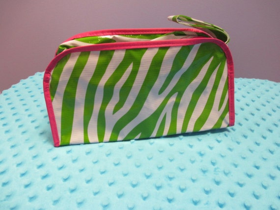 Personalized Lime Green Zebra Cosmetic Bag *LIMITED TIME SALE*