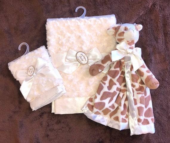 Personalized Snuggle Buddy Giraffe Set
