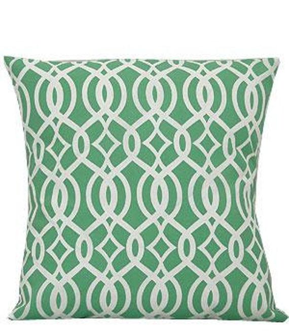 Pillow Cover Monogrammed Mint Green Vine Print