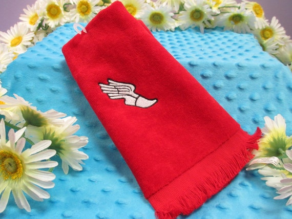 Fingertip Towel Personalized Track and Field