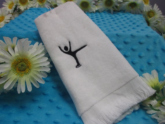 Fingertip Towel Personalized Ice Skating
