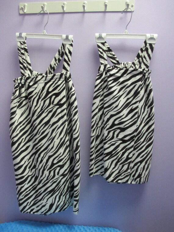 Towel Wrap Children's Personalized Zebra Print-FREE SHIPPING
