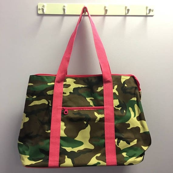 Personalized Camo With Hot Pink Accents Oversized Tote Bag FREE SHIPPING