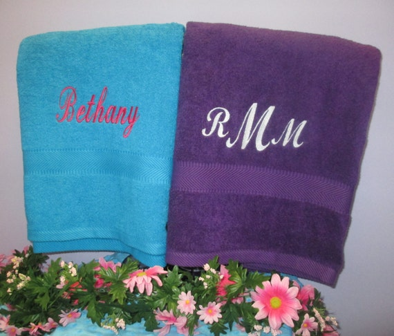 Bath Sheet Personalized Supersized-One Towel