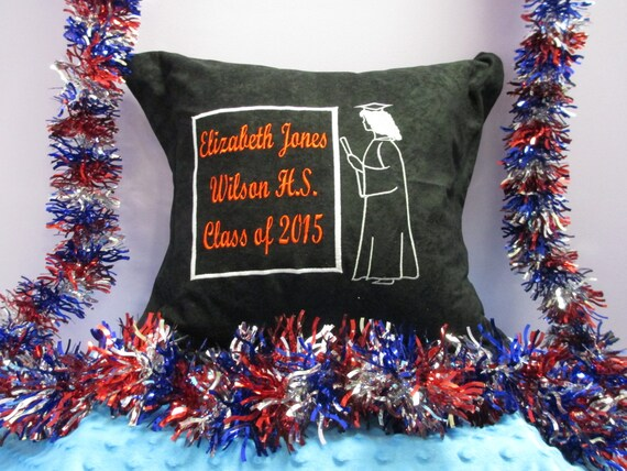Pillow Cover Personalized Girl Silhouette Graduation
