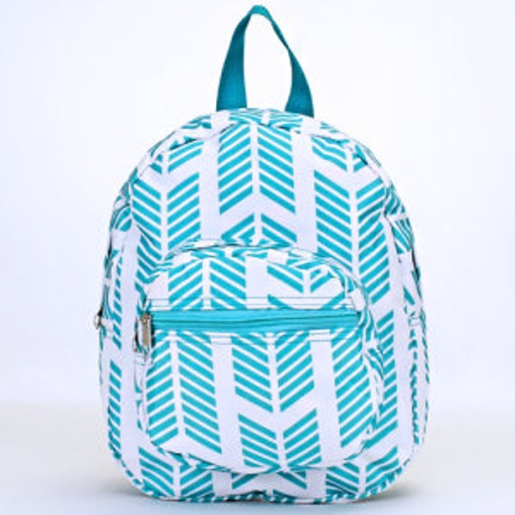 Personalized Preschool Backpack with Turquoise Arrows