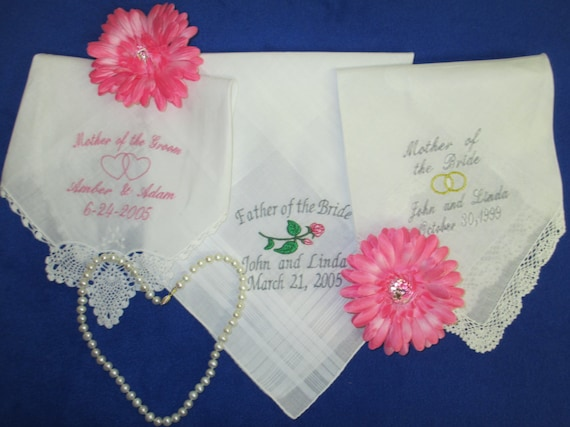 Handkerchief Personalize Monogrammed Wedding