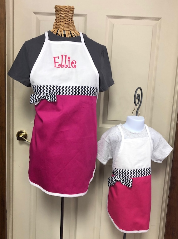 Personalized Apron Adult or Child Size with Chef Hat FREE SHIPPING