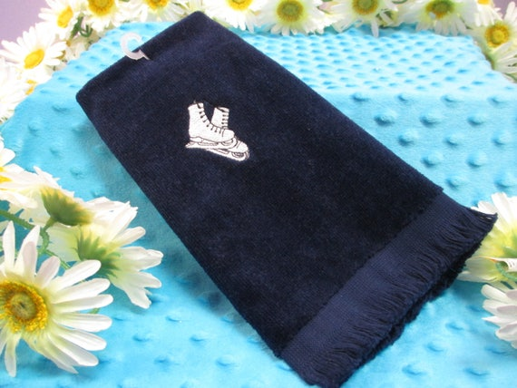 Fingertip Towel Personalized Ice Skating--FREE SHIPPING