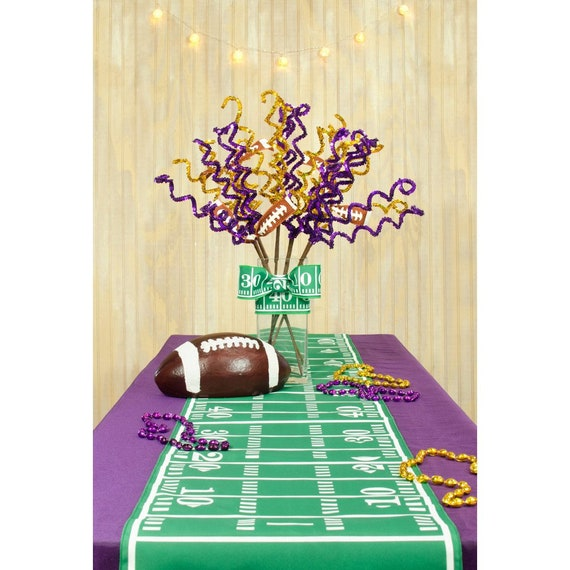 Football Field Burlap Table Runner... FREE SHIPPING