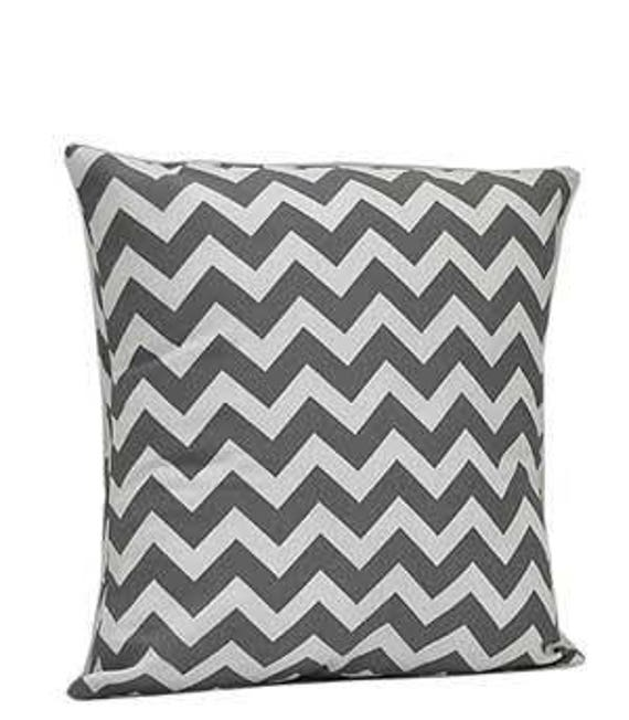 Pillow Cover Monogrammed Grey Chevron Print-FREE SHIPPING