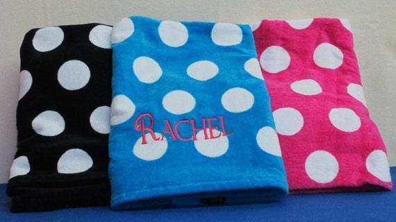 Pool Towel Personalized Polka Dot