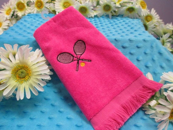 Personalized Tennis Fingertip Towel