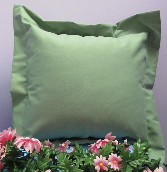 Pillow Cover Monogrammed Handmade Sage Green