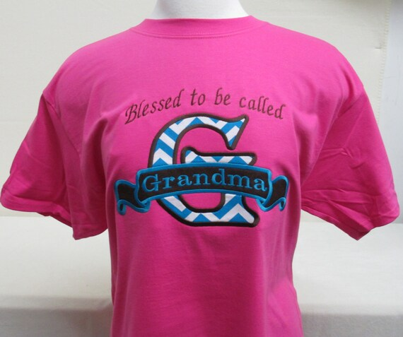 Blessed To Be Called...Personalized Appliqué Hot Pink T-Shirt
