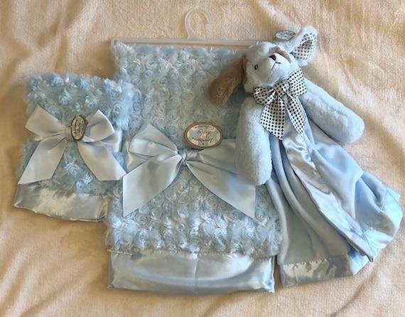 Personalized Snuggle Buddy Blue Puppy Set