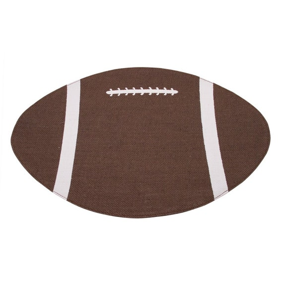 Football Burlap Jute Placemat or Decoration FREE SHIPPING