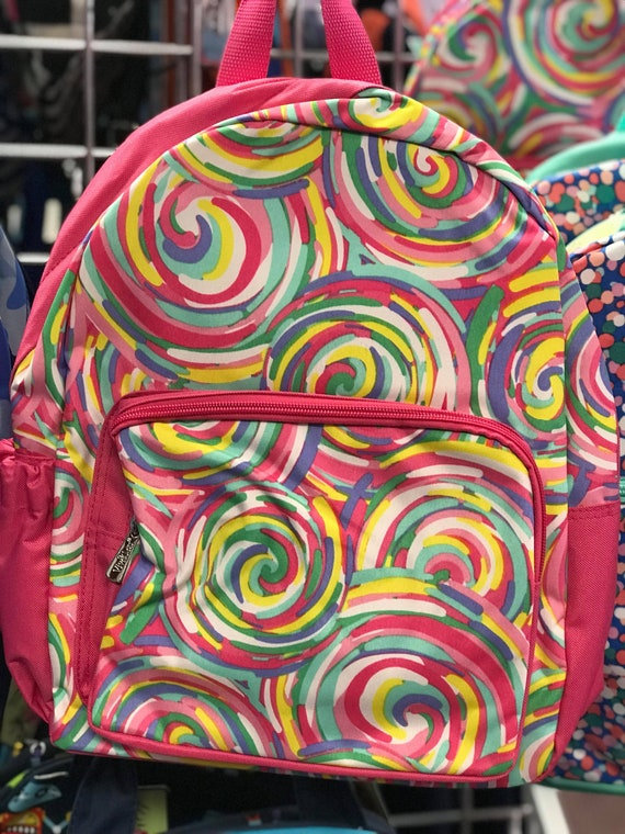 Personalized Preschool Backpack Sorbet Swirl