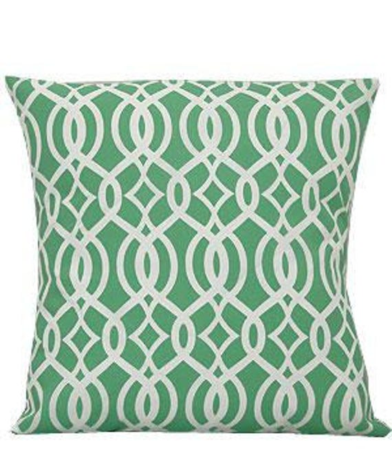 Pillow Cover Monogrammed Mint Green Vine Print-FREE SHIPPING