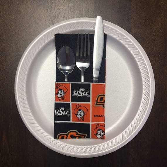 Oklahoma State Silverware Holder-FREE SHIPPING
