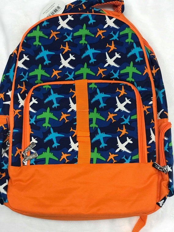 Monogrammed Backpack, Personalized Airplane Bookbag, Back to School, School Bookbag, Backpack Bundle, Lunchbox, Back to School Bundle