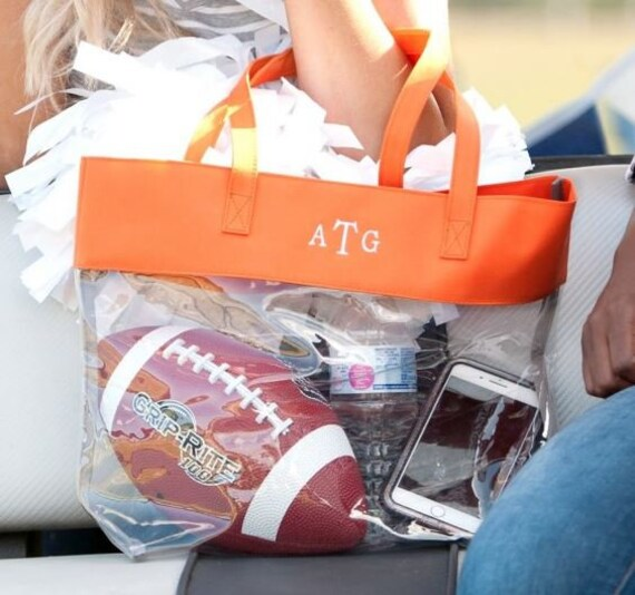 Clear Purse, clear bag, Game day Bag, monogram stadium bag, clear stadium bag, Stadium Clear Zip Pouch, Concert Clear Pouch, FREE SHIPPING