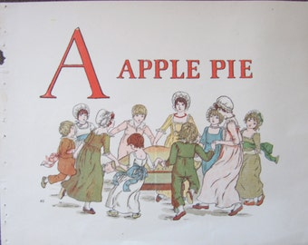 Kate Greenaway A Apple Pie Book pages Delightful illustrations