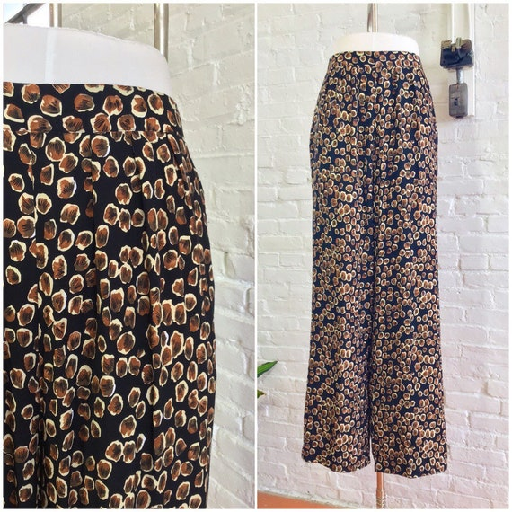 vintage 90s relaxed fit pants / 80s wide leg rayon