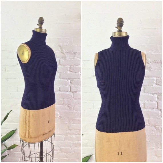 90s y2k minimalist aubergine ribbed knit cotton sl