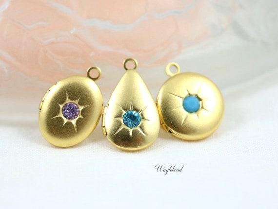 e31824e26 Violet Aquamarine Turquoise Petite Matte Gold Starburst | Etsy