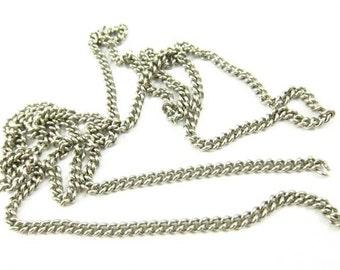 Vintage Stainless Steel Curb Chain - CN18 - precut 2 Feet .