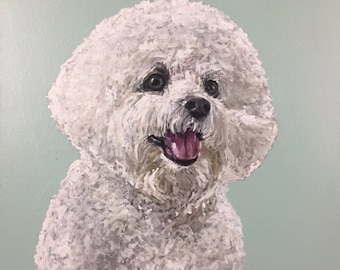 "Custom 20""x20"" Pet Portrait Painting - Original Painting Commissions"
