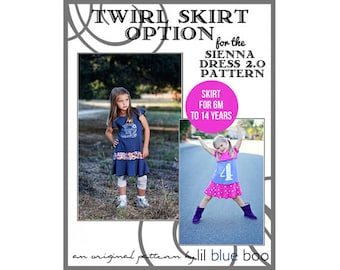 DIY PDF Pattern and Tutorial - Twirl Skirt Option for Sienna Dress 2.0