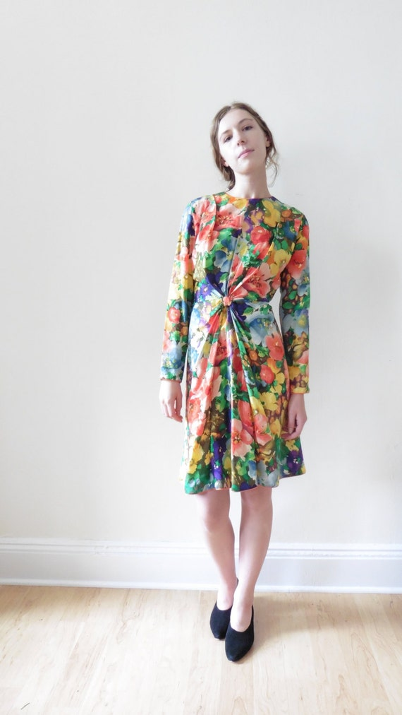 Mary Mcfadden Floral Dress