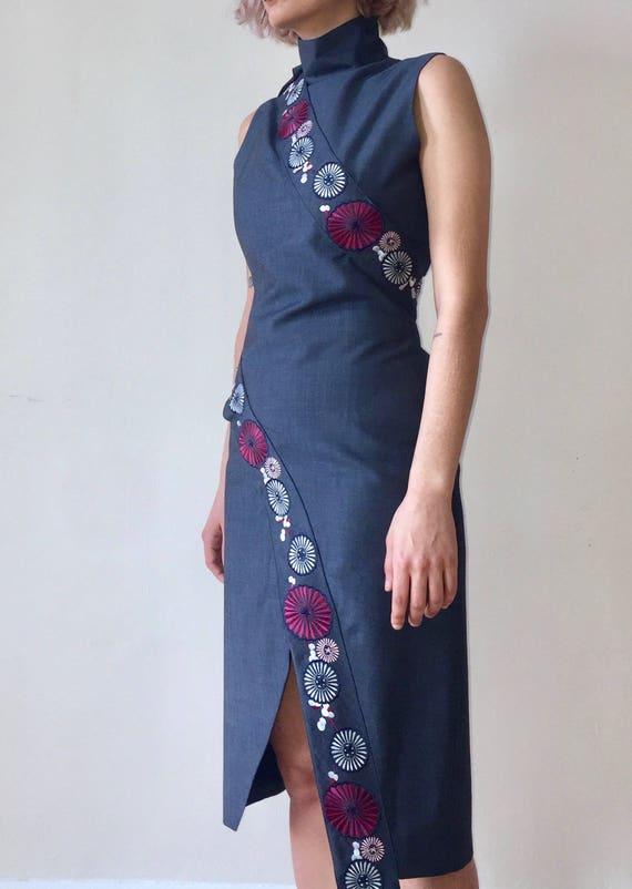 Alexander McQueen Voss Embroidered Dress