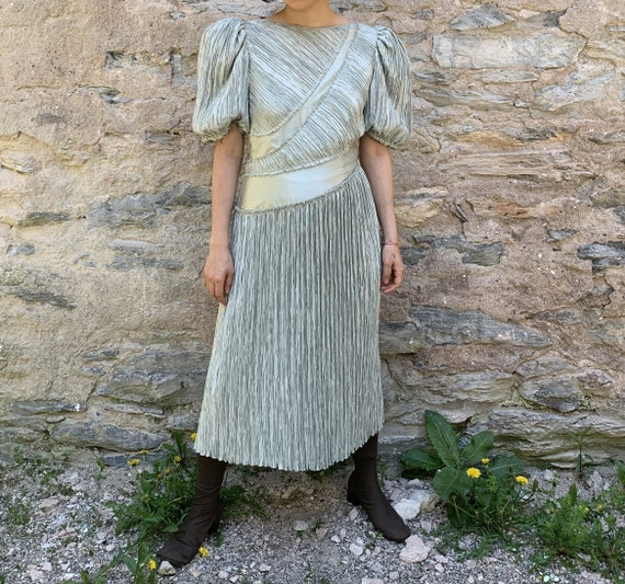 80s Mary Mcfadden Fortuny Pleats Dress