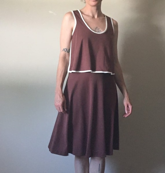 reserved 1970s Brown Sporty Dress