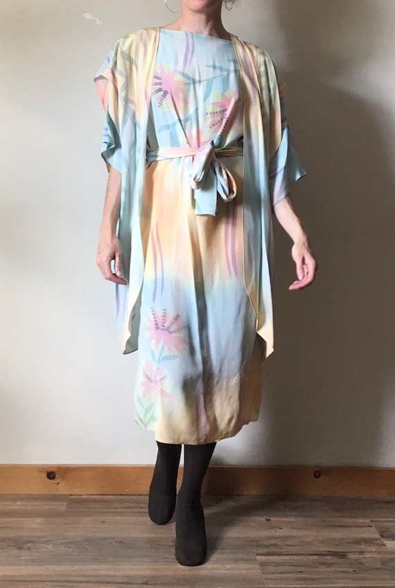 3 Piece Handpainted Silk Dress Set