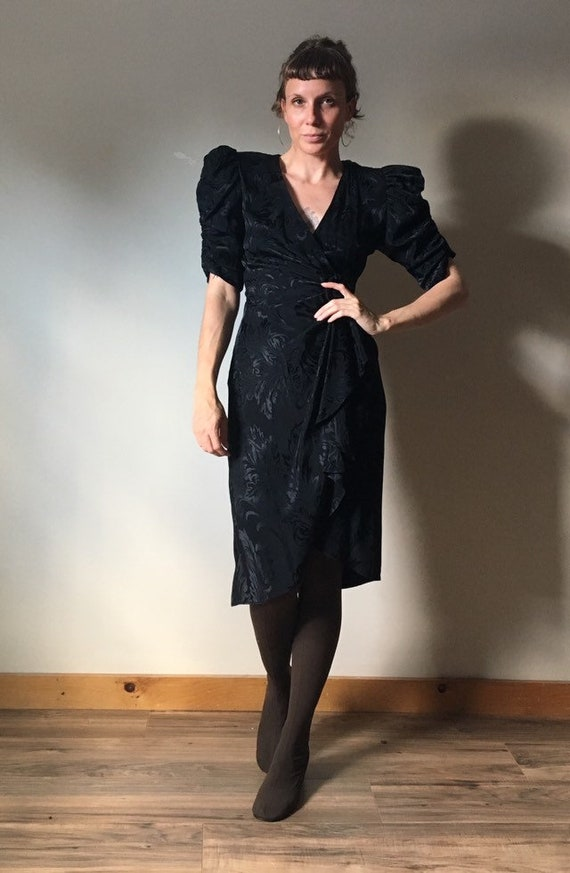 80s Puff Sleeve Dress