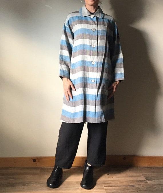Issey Miyake Pleats Please Linen Duster Coat - image 7