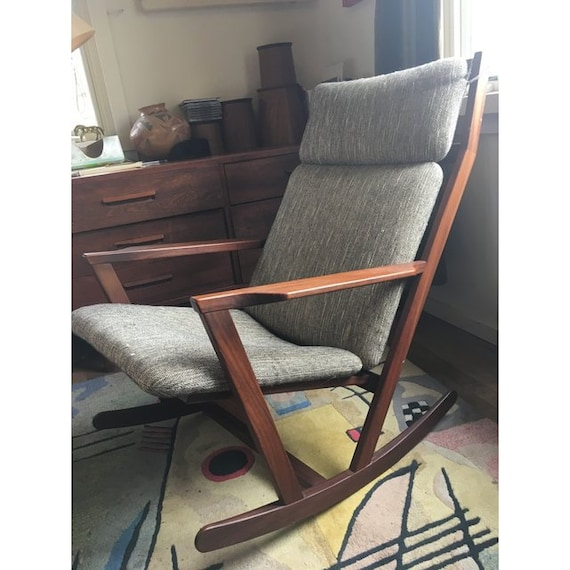 Outstanding Poul Volther Mid Century Rocking Chair Squirreltailoven Fun Painted Chair Ideas Images Squirreltailovenorg