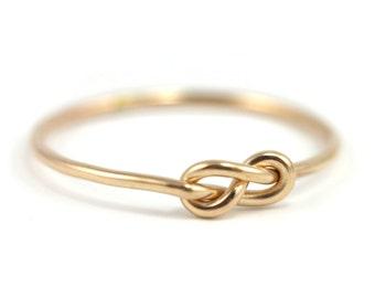 Gold Infinity Knot Ring- gold-filled knot ring, handmade infinity ring, delicate yellow gold-filled, infinity knot, simple knot ring