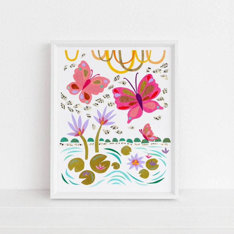Butterflies and Lily Pads  Land Sea  Sky Collection image 0