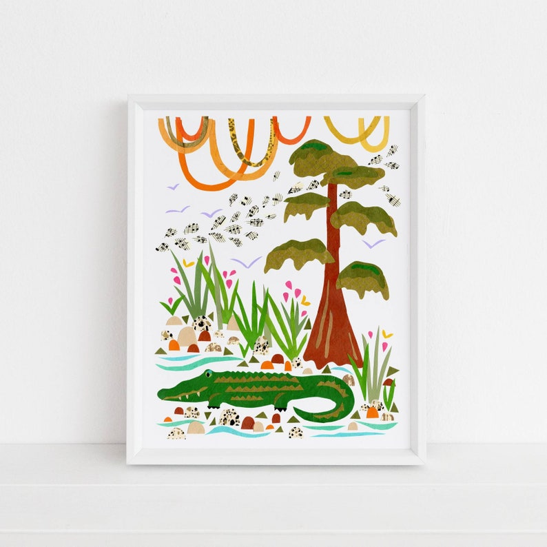 Swamp Gator  Land Sea  Sky Collection  Whimsical Animal image 0