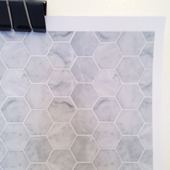 photograph regarding Dollhouse Wallpaper Printable named Printable PDF impressive dollhouse wallpaper - Hexagon marble surface area tile