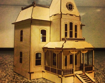 Bates Motel Haunted House Laser-Cut Wooden Model Kit