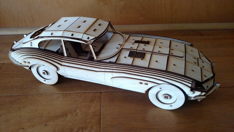 jaguar e-type wooden model kit | etsy